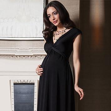 ZH Las mujeres embarazadas de verano de maternidad sin mangas del vestido marea resorte de primavera