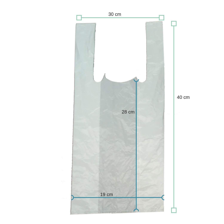 PAMPOLS Bolsas Camiseta HDPE 30X40 G-55 Blanca (Pack de 200 ...
