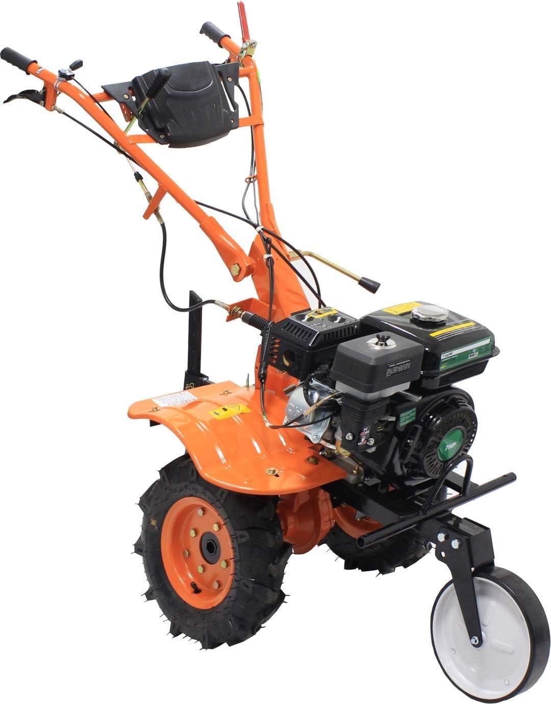 MADER GARDEN TOOLS - Motoazada - Arado Mecanico - Gasolina - 3 velocidades - 7HP - con acesorios - Transmission por Engrenaje - Semi-profesional - Elevada Calidad - com sensor de aceite