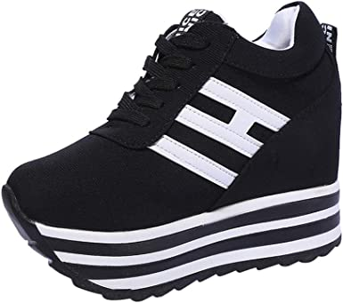 Retro Wedge Heels Mens Womens Running Sneakers Athletic Casual Shoes High Top SZ