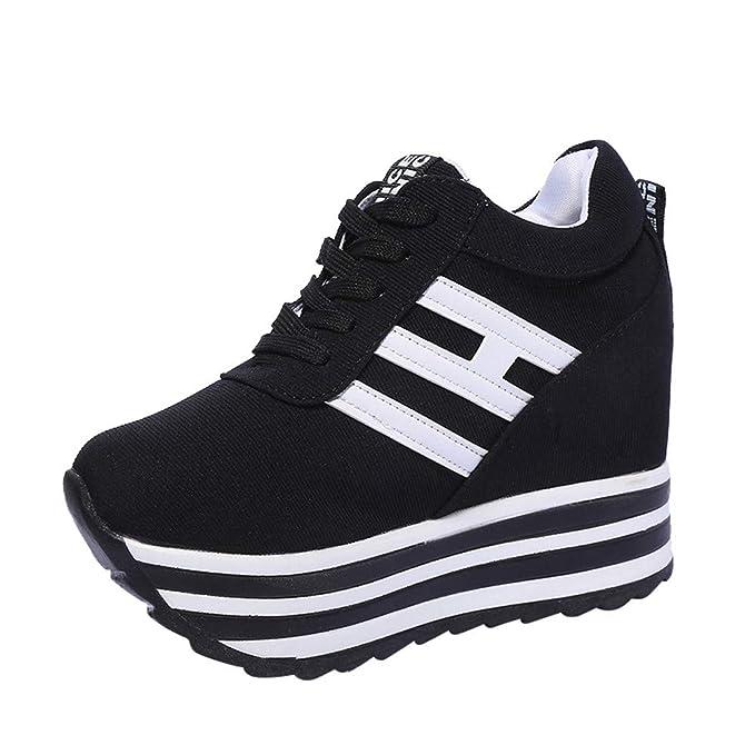 Shoes Mujer Otoño invierno ZARLLE Zapatos Deportivos Zapatillas de Deporte Zapatos Corrientes de Las Mujeres Zapatos plataforma gruesa de fondo ...