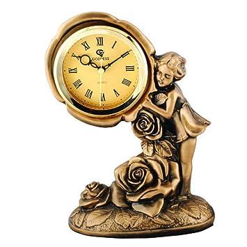 SESO UK- Diosa clásica Europea Reloj de Mesa Creativo Non-Ticking silencioso Escritorio de Resina Relojes Decorativos para la Sala de Estar: Amazon.es: ...