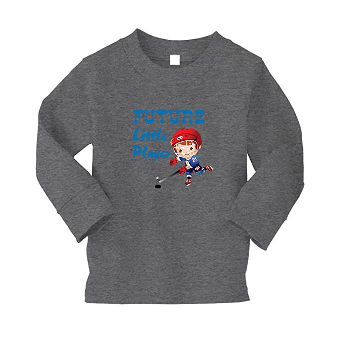 bfa6b72f7 Image Unavailable. Image not available for. Color: Cute Rascals Future  Little Player Hockey Stick Sport Kids 100% Cotton T-Shirt Tee