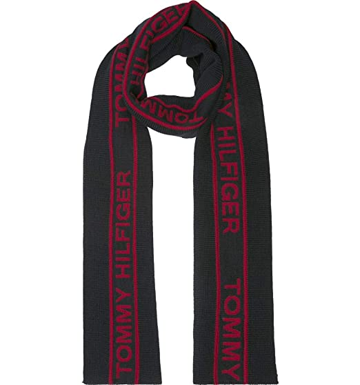 fedea01e8213 Tommy Hilfiger Mens  Selvedge  Knit Scarf (Tommy Navy) One Size ...
