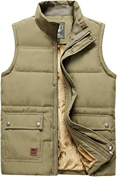 Vcansion Men's Stand-Collar Padded Vest