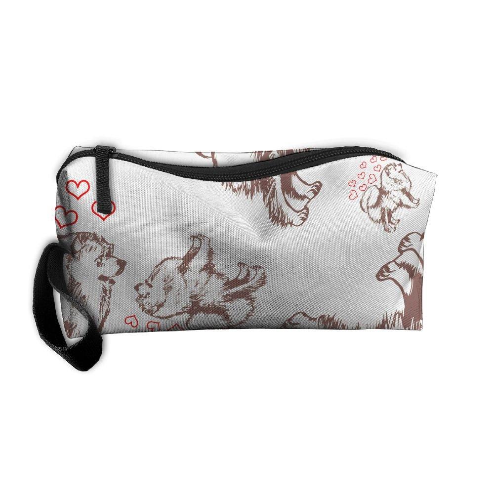 a26702de718c Mastiff Puppy Women Storage Travel Kit Canvas Travel Toiletry Organizer best
