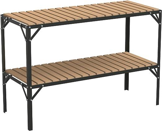 Aluminio y lamas de madera invernadero estadificación dos niveles ...