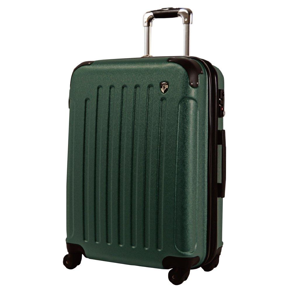 [グリフィンランド]_Griffinland TSAロック搭載 スーツケース 超軽量 マット加工 newFK10371 ファスナー開閉式 B078BFZQR7 LM型 +【名前刻印】|フォレストグリーン フォレストグリーン LM型 +【名前刻印】
