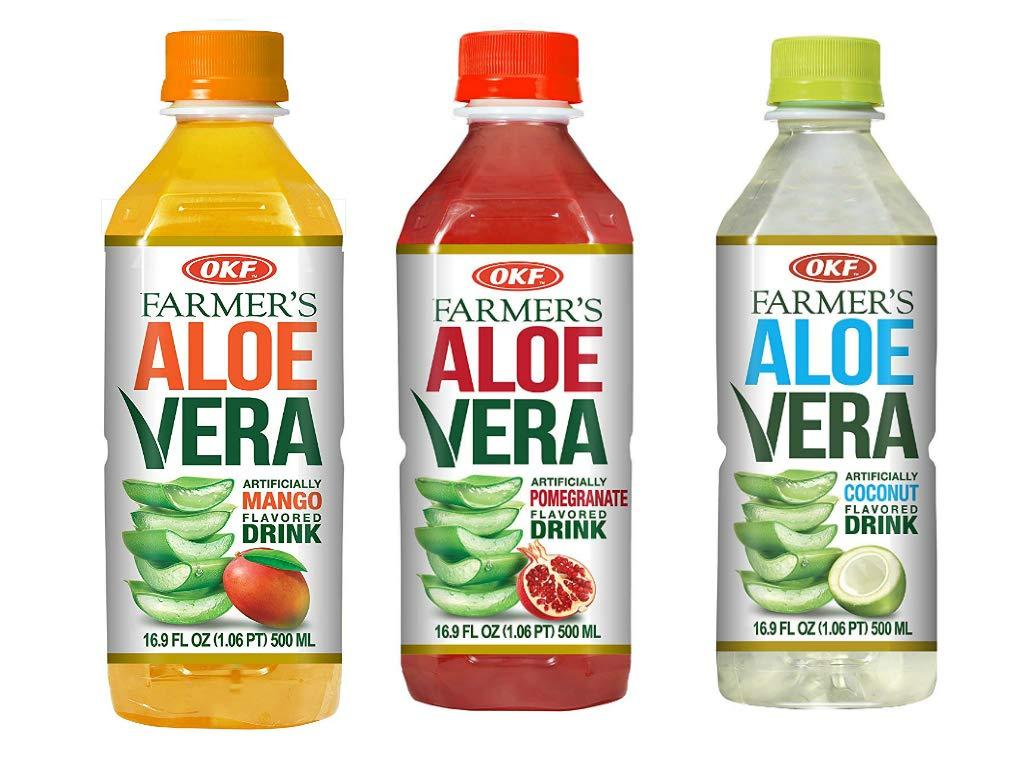 OKF Farmer's Aloe Vera Drink, Pomegranate (16.9 Fl Oz, Pomegranate, Mango, Coco)