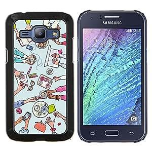 Dragon Case - FOR Samsung Galaxy J1 J100 J100H - Do not seat your love - Caja protectora de pl??stico duro de la cubierta Dise?¡Ào Slim Fit