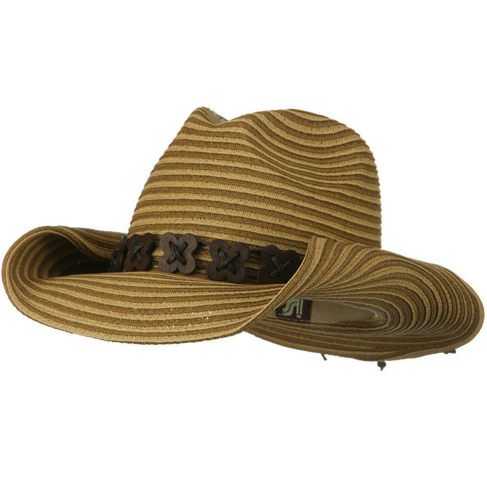 Roxy Ladies Fashion Cowboy Hat - Brown