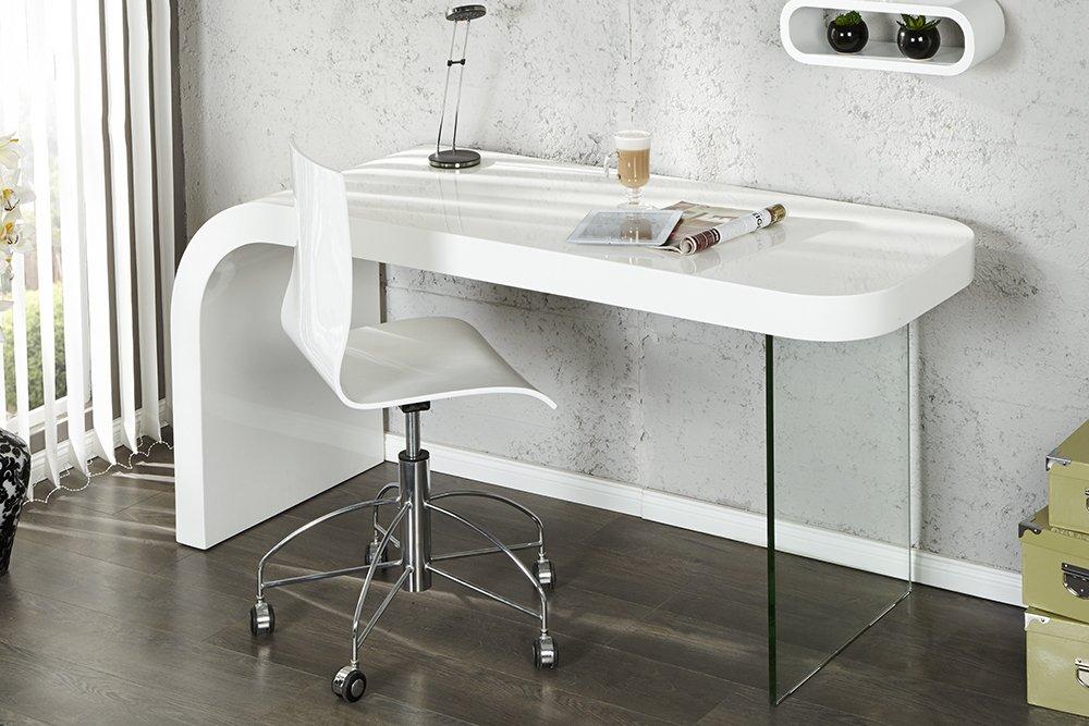 Innovantes bureau onyx blanc brillant bureau table: amazon.fr