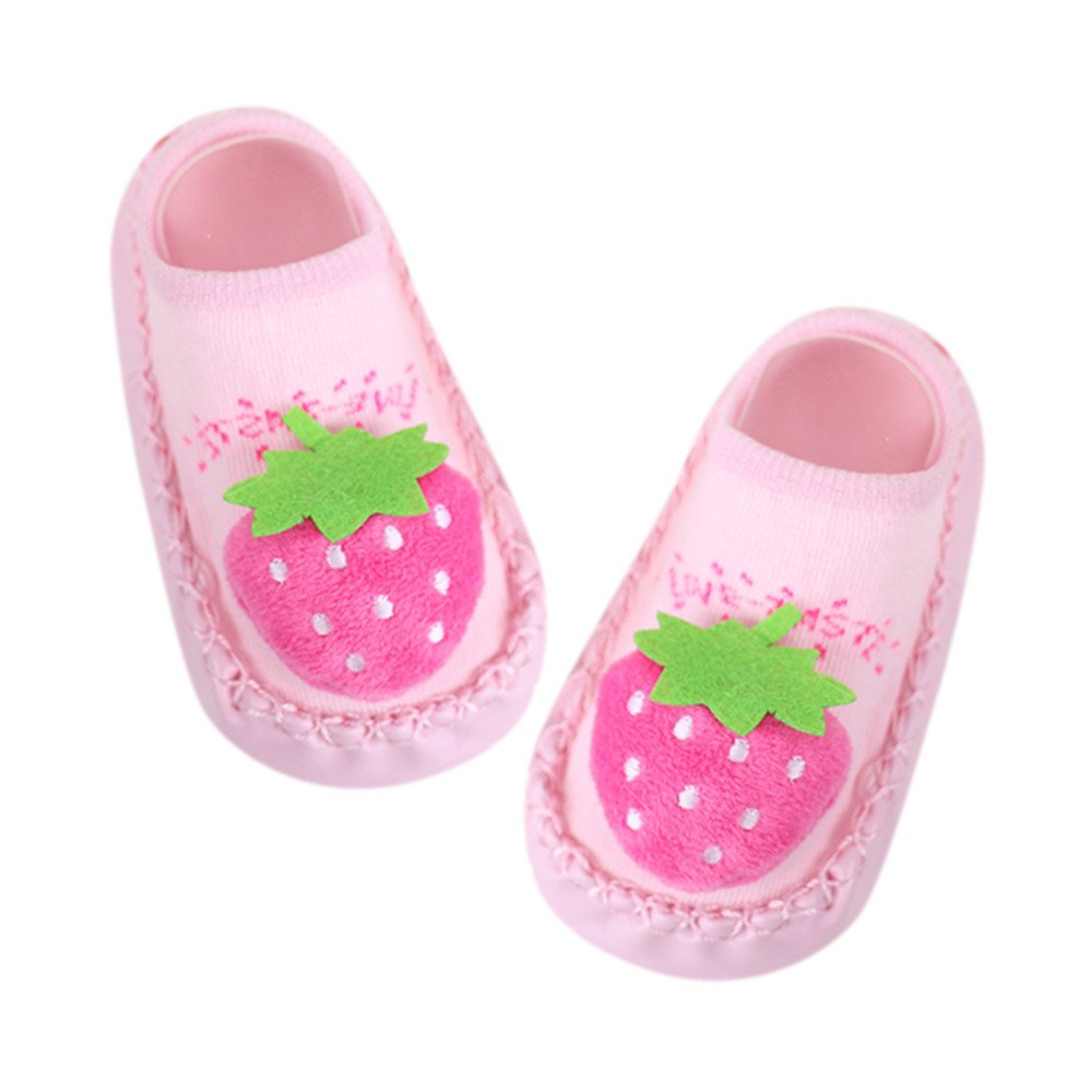 1 Pairs of Baby Boys Girls Indoor Slippers Anti-slip Shoes Socks 0-24 Months