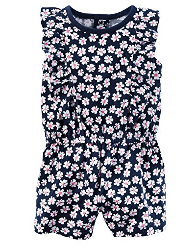 Carter's Baby Girls' Ruffle Floral Romper 18 Months - Infant Girl Carters Daisy