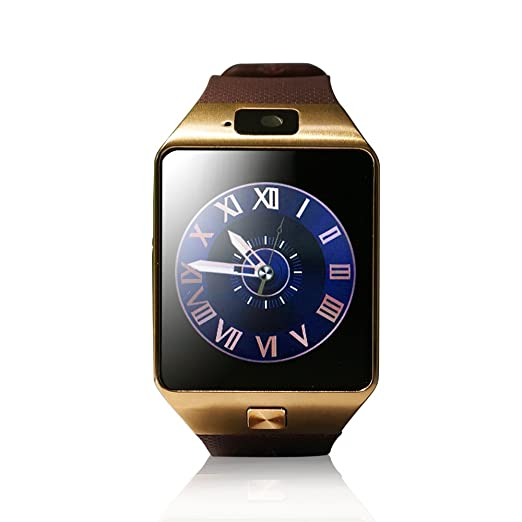 CLZZ Silver Bluetooth Watch 30 MP Camera 128M+64M Storage, Silver