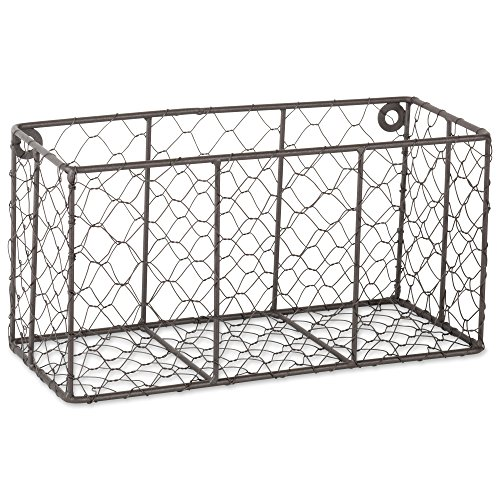 DII Z01929 Rustic Farmhouse Vintage Chicken Wire Wall Basket, Small (Set of 2), Bronze by DII (Image #2)