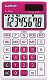 カシオ 電卓 手帳タイプ 8桁 SL-300B-RD-N ルージュピンク