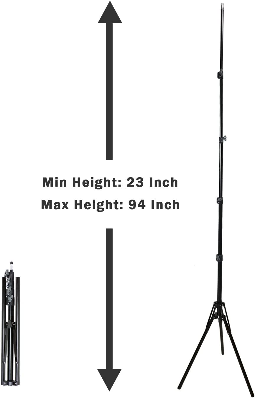 Softboxes Backgrounds AGG2412 Lights Umbrellas LimoStudio Max 94 inch Height Photography Lighting Stands Professional Studio Light Stand 4-Section for Photo Studio Reflectors