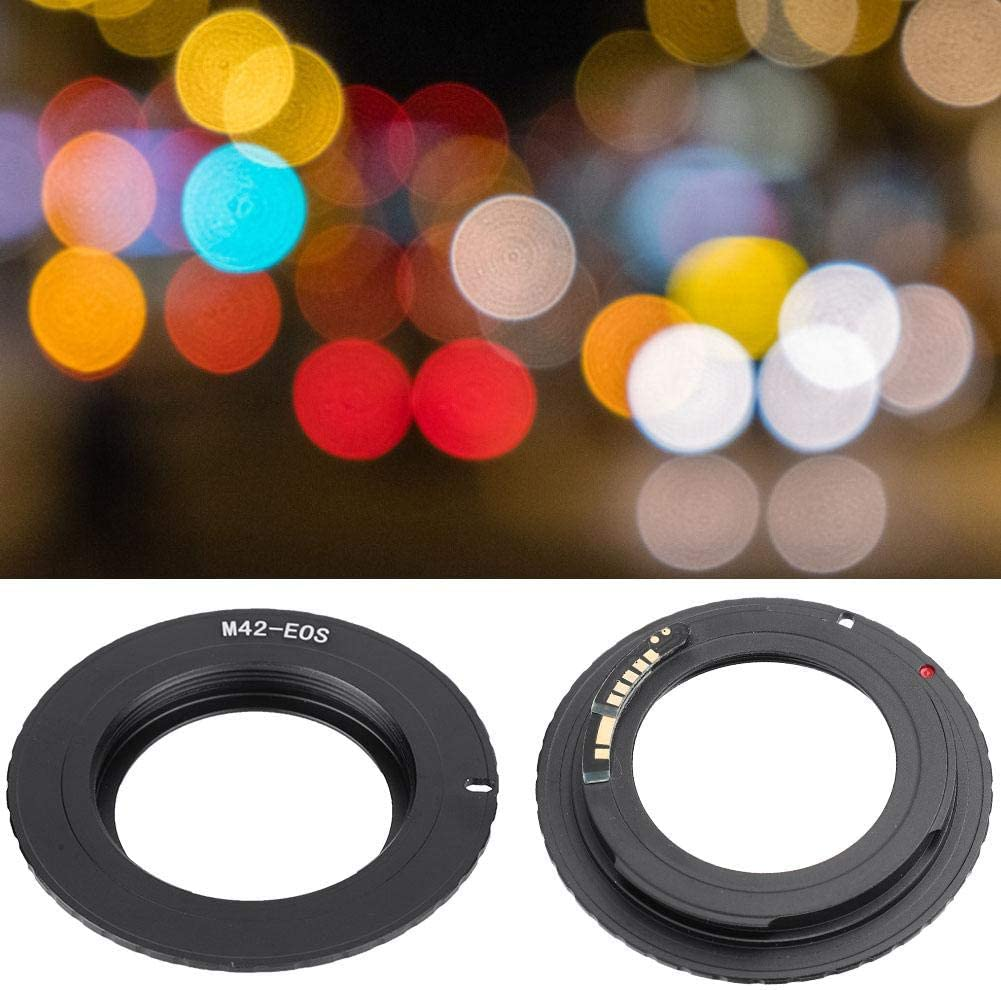Lens Mount Adapter,M42-EOS//EF Lens Adapter Ring for M42 Screw Lens to for Canon EOS//EF Mount Camera EOS 500D 1000D 450D 400D 350D 300D 50D 40D 30D 20D 10D 5D 6D 60D 650 5D3