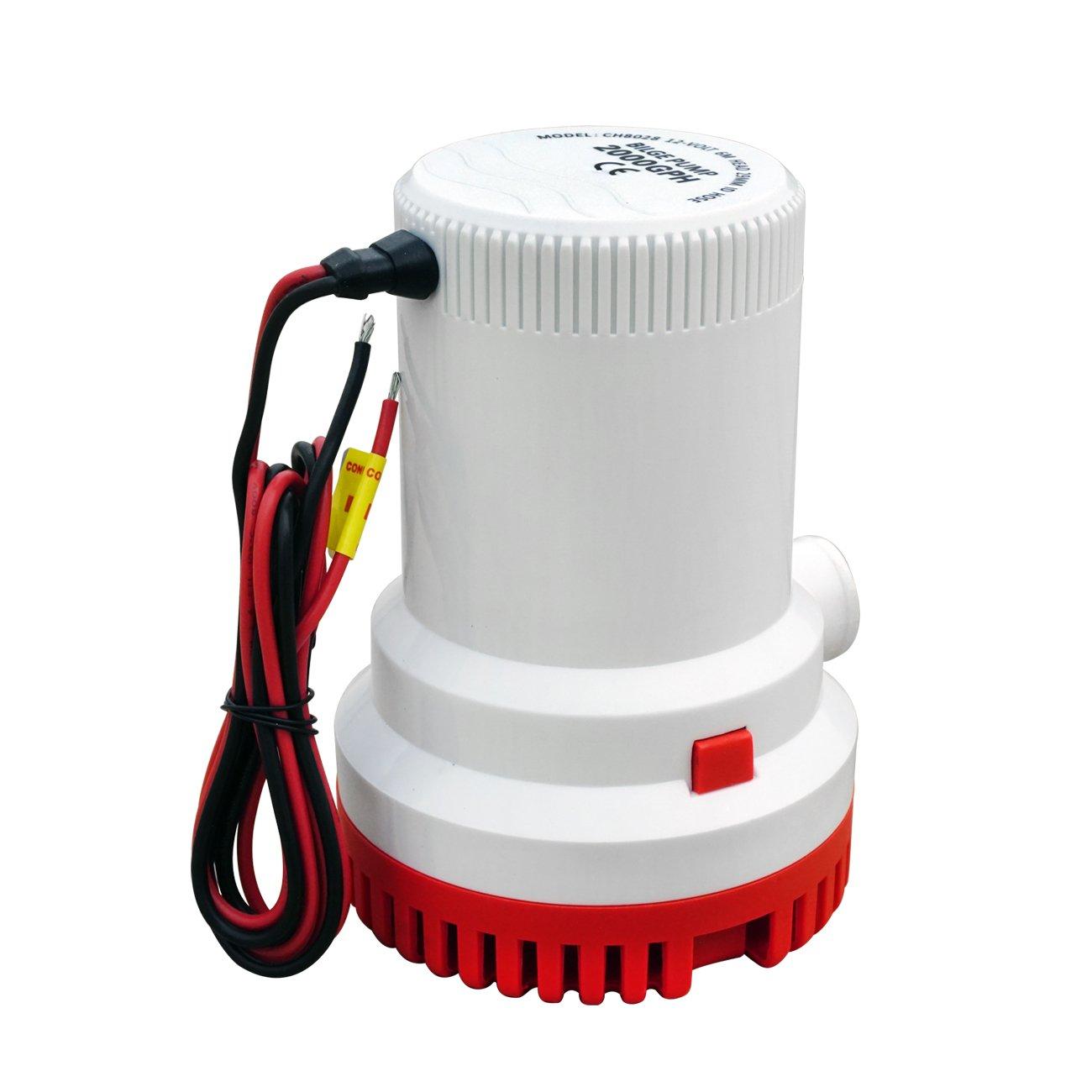 ECO-WORTHY Marine sentina sumergible bomba de sumidero 2000/GPH 12/V 29/mm ID manguera Silencioso completa sumergible