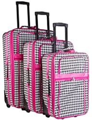 Vacation 3 Piece Luggage Set I Color: Pink