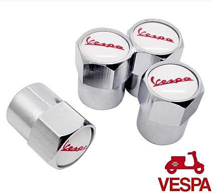 Vespa Cromado Válvula de rueda de Polvo Caps.