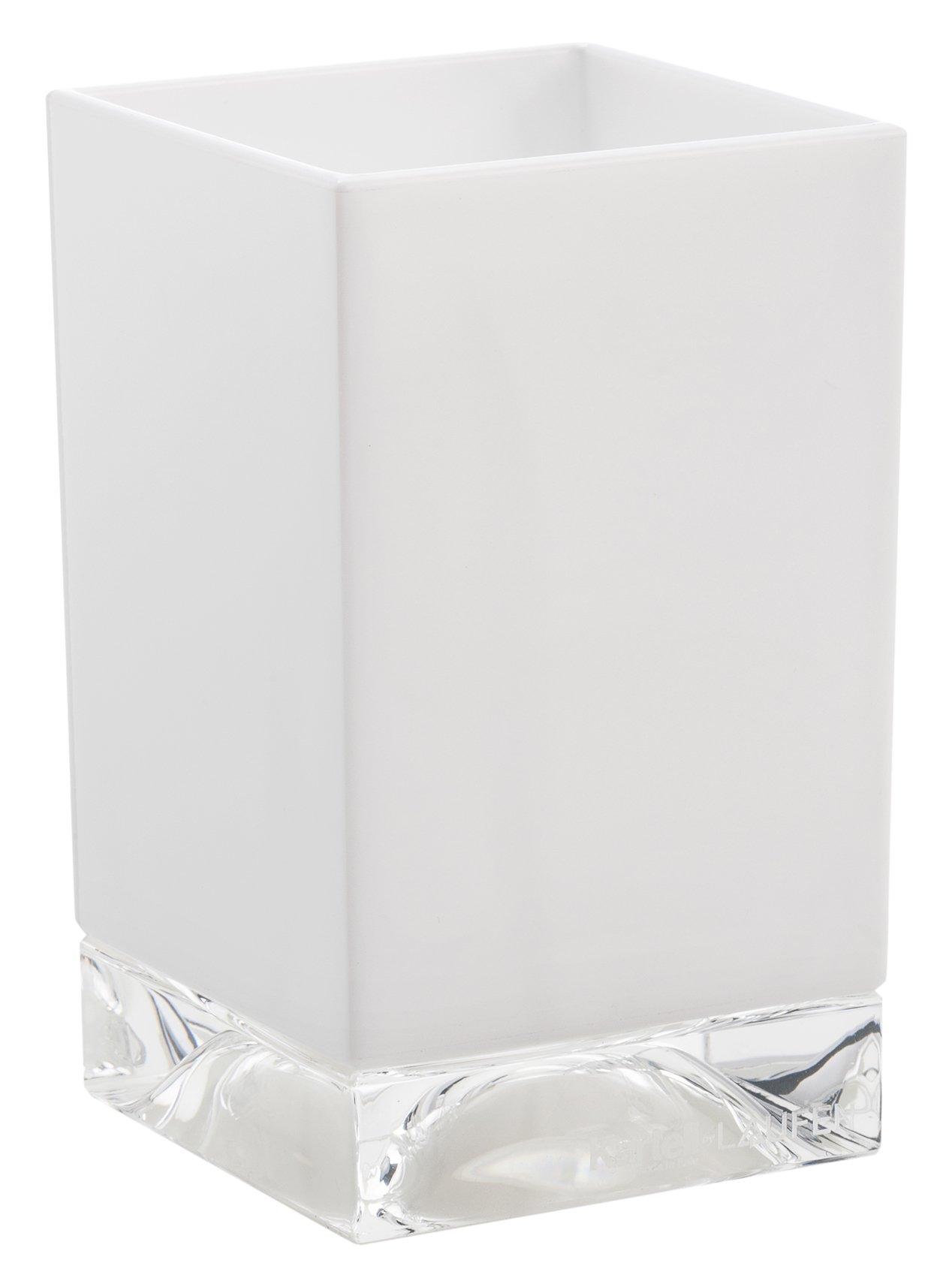 Kartell Boxy Toothbrush Holder, White, 7.3 x 7.3 x 12 cm