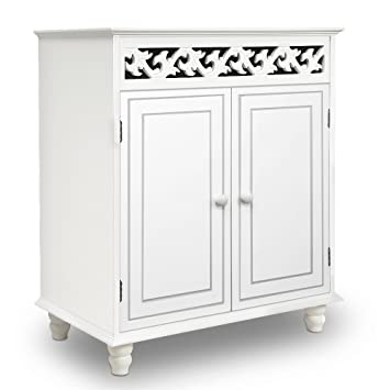 Fabulous Deuba Wooden Cabinet Nostalgia Cupboard Doors Storage For Bathroom Kitchen Living Room White With Shelf Download Free Architecture Designs Viewormadebymaigaardcom