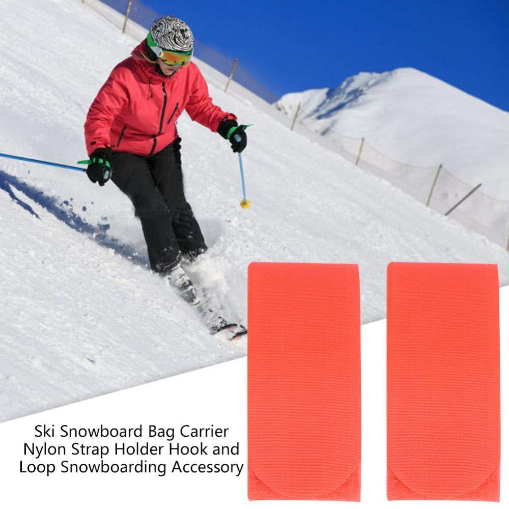Orange Alomejor Ski Strap Ski Snowboard Shoulder Carrier Nylon for Skiing Snowboarding
