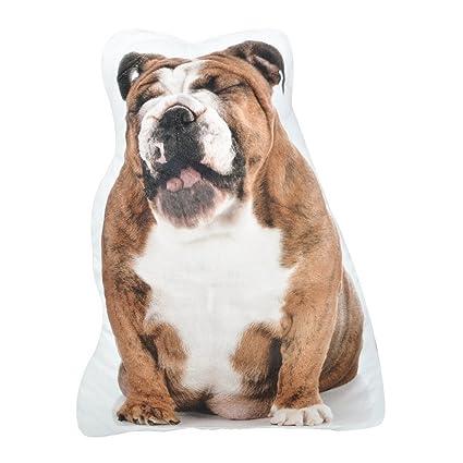 JWH Almohadas de cojín 3D para perro, de felpa super suave, hechas a mano