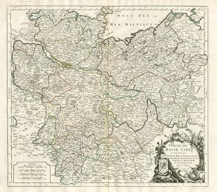 Lower Saxony Germany Map.Amazon Com Cercle De Basse Saxe Lower Saxony Mecklenburg