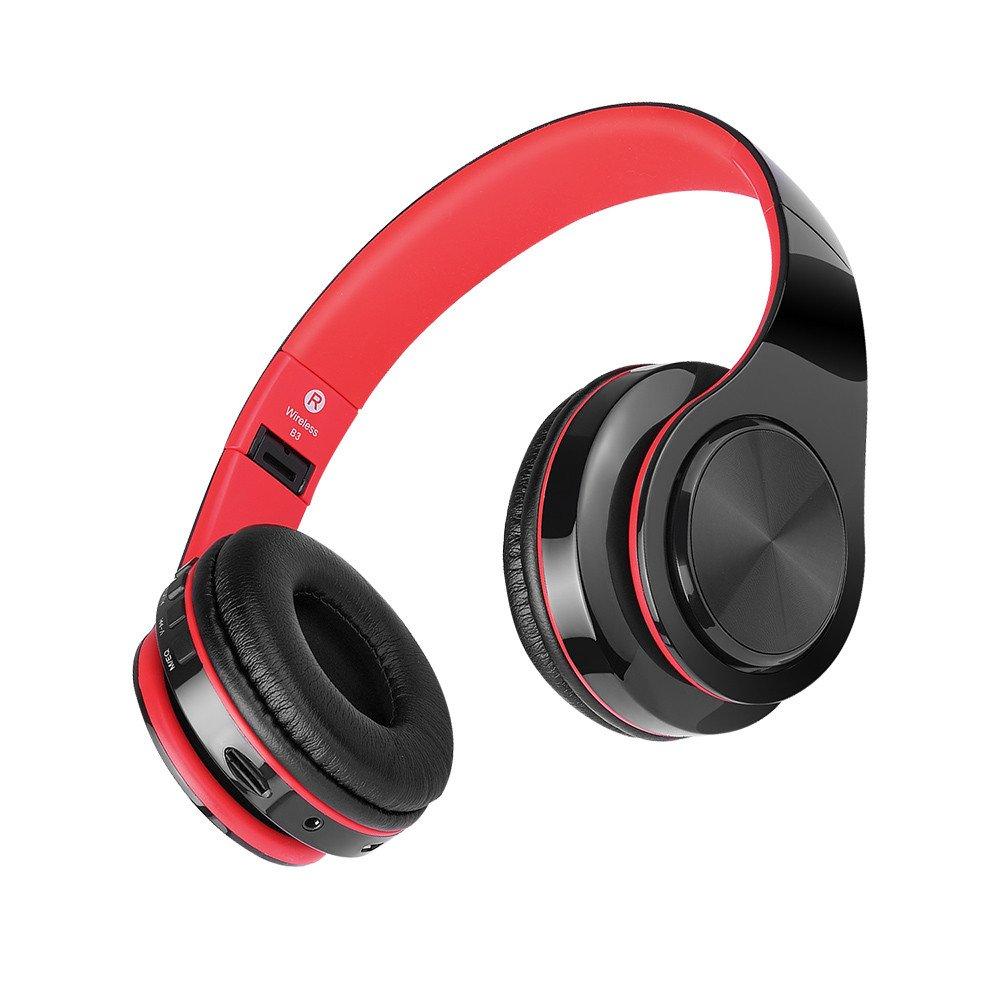 Winwintom Auriculares Bluetooth De Diadema InaláMbricos,Cascos Bluetooth Plegable,De Volumen para iPhone, Samsung Galaxy S9/8/7/6, Huawei, Xiaomi, Pc, iPad, ...
