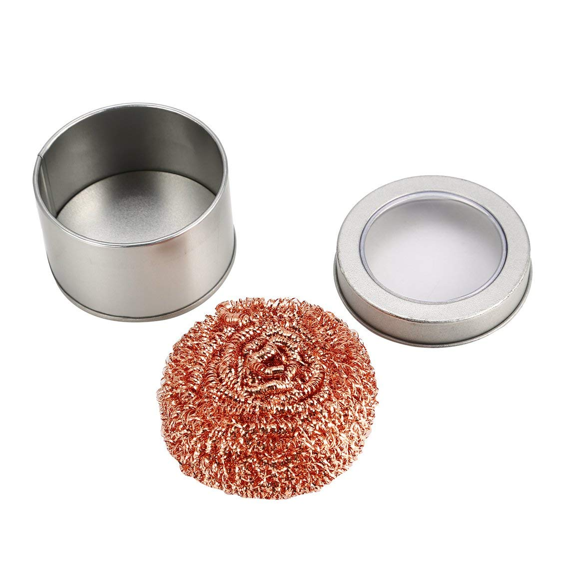 Desoldering Soldering Iron Mesh Filter Cleaning Nozzle Tip Copper Wire Ball Clean Ball Cleaning Ball Steel Wire Sponge