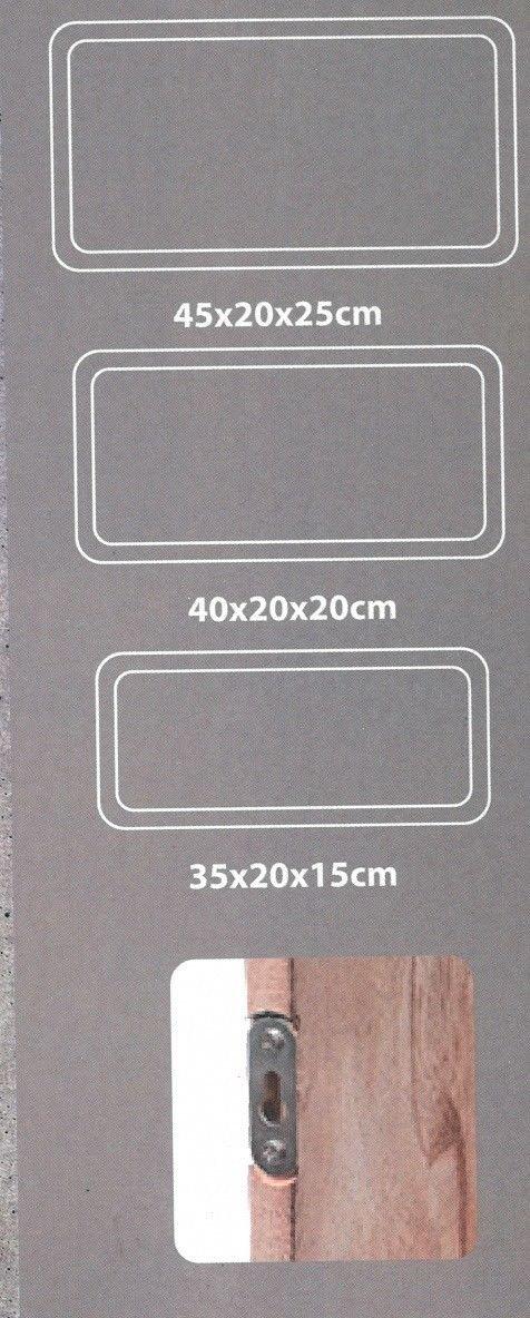 Koop Lot de 3/unit/és de Bois Rectangle Etag/ère Cube Fixation Murale ou sur Pied
