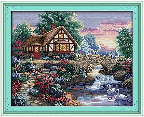 Joy Sunday Cross Stitch Kits 14CT Counted Beautiful Homeland 21.26