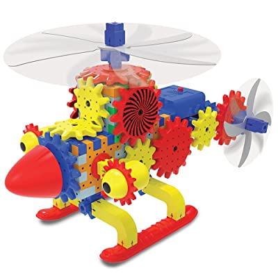 The Learning Journey Techno Gears STEM Construction Set – Quirky Copter (60+ pieces) – Helicopter Toy – Award-Winning Learning Toys & Gifts for Boys & Girls Ages 6 Years and Up: Toys & Games