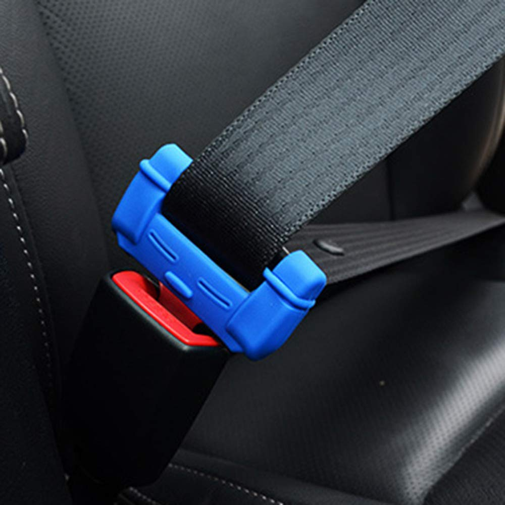 AOZBZ 2pcs Universal Car Safety Belt Buckle Covers Anti-Scratch Silicon Seat Belt Buckle Protector Interior Accessories