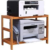 Print Racks Printer Shelf Desktop Adjustable Printer Stand Bamboo Shelf Bathroom Multilayer Storage Rack Kitchen…