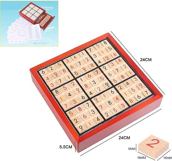 Mini Juego de Mesa Juego, Entrenamiento Sudoku Juego Intelectual Juegos Madera Juguete Edición Limitada ajedrez para Puzzle Crecimiento Intelectual,2 pc: Amazon.es: Hogar