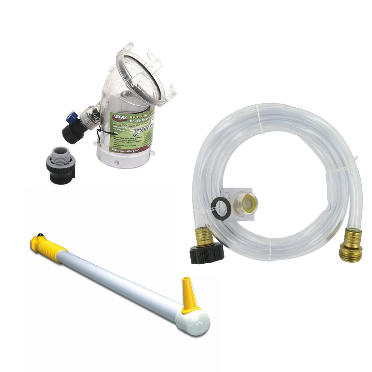 Rv Black Tank Flush Valve With Master Blaster Tank Wand And Hose Kit Bundle To Keep Your Blank Tank And Sensors Ultra Clean Buy Online In Oman Valterra Products In
