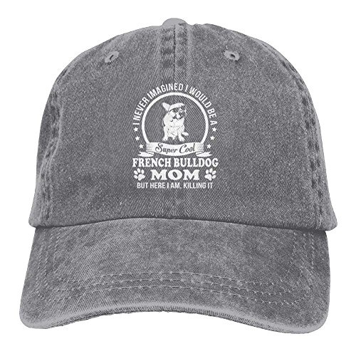 SweetieP Cotton Trucker Baseball Hat Cowboy Cap for Womens and Mens French Bulldog Mom ()