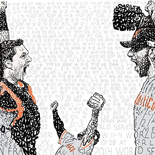 - 2014 San Francisco Giants World Series Wall Art Print - Unique Gift - 16