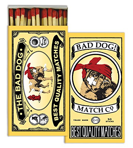 Cigar Matches (HomArt Large Decorative Bad Dog Candle and Fireplace Wood Matches)