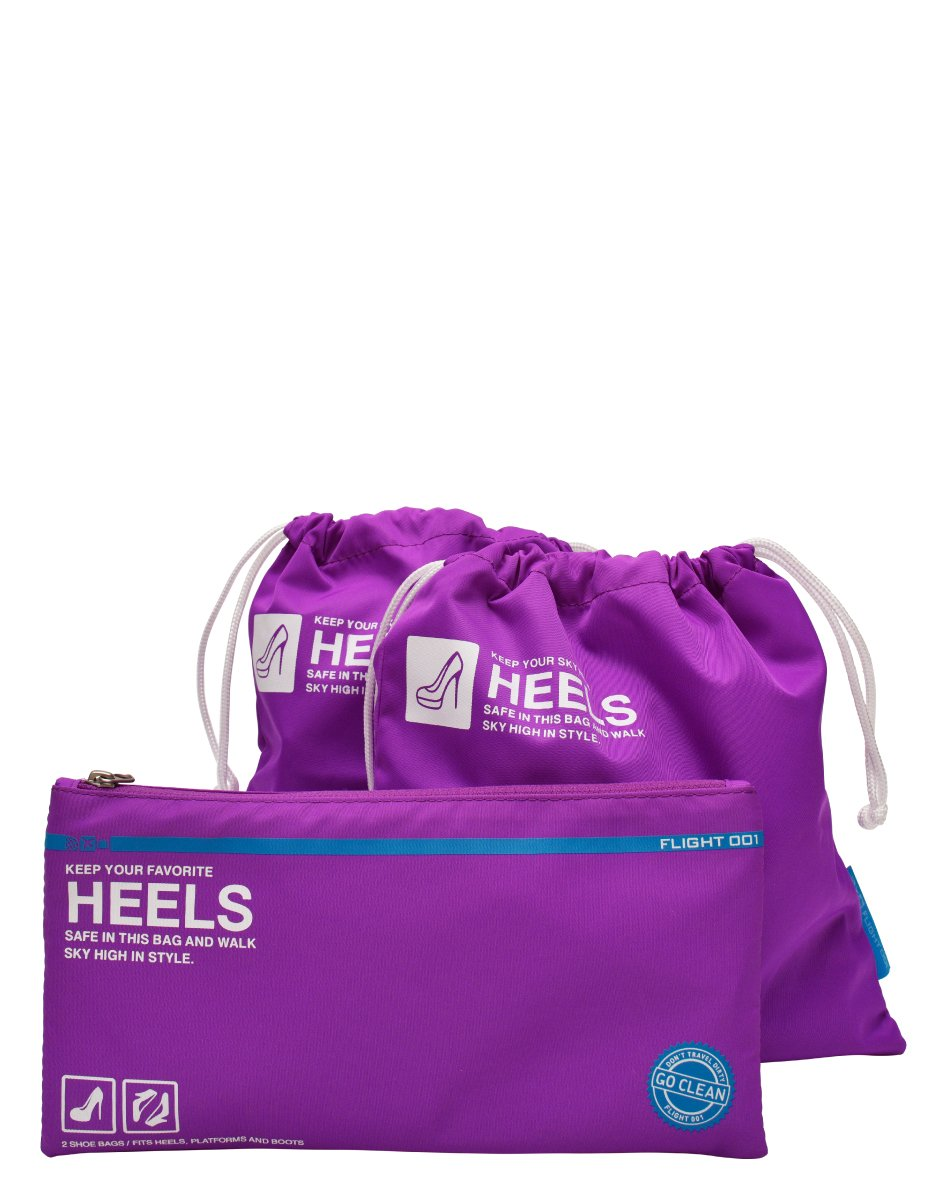 Flight 001 Women's Go Clean Heels Packing Bags, Purrple