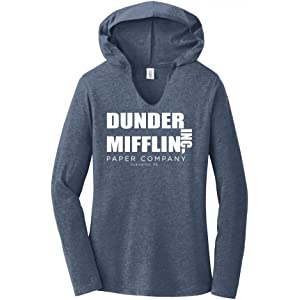 52229f9a Comical Shirt Ladies Dunder Mifflin Paper Company Funny TV Show Hoodie Shirt