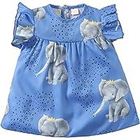 SH-RuiDu Vestido de verano con estampado de elefante y estampado de niña