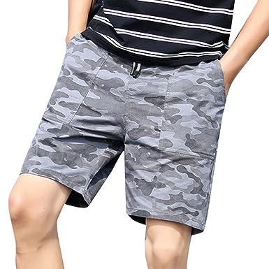 1a053301e0 LIN Soldes Shorts et Bermudas Hommes Short de Bain Surfing Natation Demi- Longueur