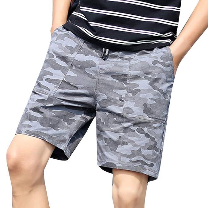 Bottoms Shorts Army Comfy Mens Solid Color Beach Summer Pockets Zipper Loose