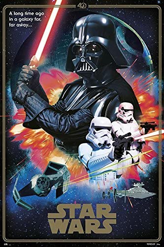 Amazon Com Star Wars Episode Iv A New Hope Movie Poster Print 40th Anniversary Collage The Villains Darth Vader Stormtroopers Size 24 Inches X 36 Inches Posters Prints
