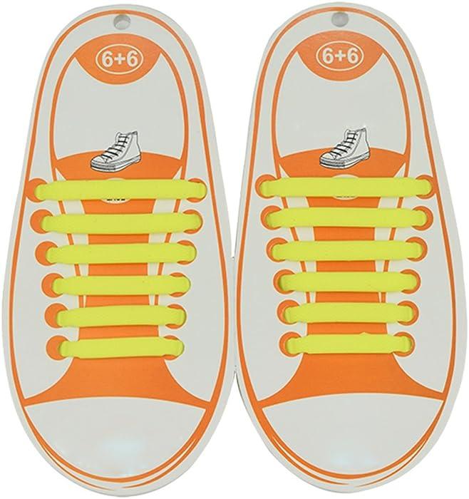 Mxssi Cordones Elásticos Zapatillas No Tie Shoelaces - Impermeables Multicolor 12 Piezas Silicona Cordones de Zapatos para Niños Plano Sneaker Boots Sin ...